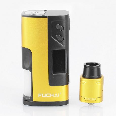 Authentic Sigelei Fuchai Squonk 213 150W TC VW Variable Wattage Mod Kit - Yellow, 10~150W, 5ml, 1 x 18650 / 20700 / 21700