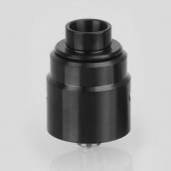Kindbright Entheon Style RDA Rebuildable Dripping Atomizer w/ BF Pin - Black, 316 Stainless Steel, 22mm Diameter (Without Logo)