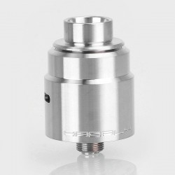 Kindbright Entheon Style RDA Rebuildable Dripping Atomizer w/ BF Pin - Silver, 316 Stainless Steel, 22mm Diameter