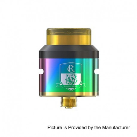 Authentic IJOY COMBO SRDA Rebuildable Dripping Atomizer w/ BF Pin - Rainbow, Stainless Steel, 25mm Diameter