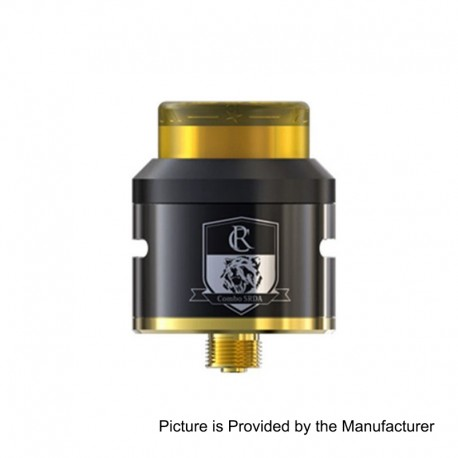 Authentic IJOY COMBO SRDA Rebuildable Dripping Atomizer w/ BF Pin - Black, Stainless Steel, 25mm Diameter