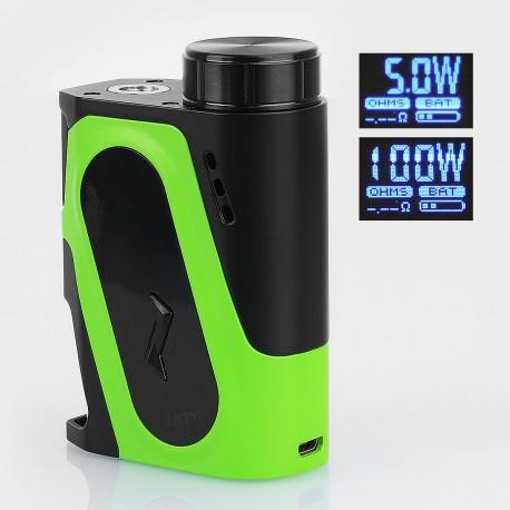Authentic IJOY Capo 100W Squonk Box Mod - Green, 1 x 18650 / 20700 / 21700