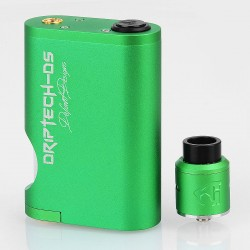 Driptech-DS Goon Box Style Mechanical Squonk Box Mod + Goon 1.5 Style RDA Kit - Green, 8ml, 2 x 18650, 24mm Diameter