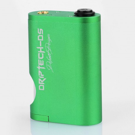 Driptech-DS Goon Box Style Mechanical Squonk Box Mod - Green, Aluminum, 8ml, 2 x 18650