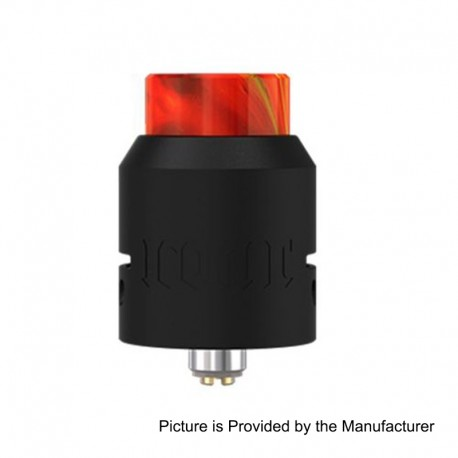 Authentic Vandy Vape Iconic RDA Rebuildable Dripping Atomizer w/ BF Pin - Black, Stainless Steel, 24mm Diameter