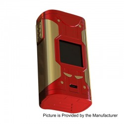 Authentic Smoant Cylon 218W TC VW Variable Wattage Box Mod - Red + Gold, 2 x 18650