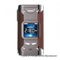 Authentic Smoant Cylon 218W TC VW Variable Wattage Box Mod - Gun Matel + Brown, 2 x 18650