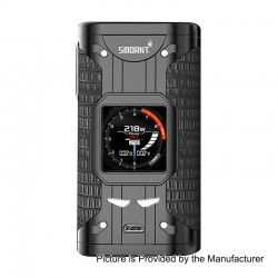 Authentic Smoant Cylon 218W TC VW Variable Wattage Box Mod - Black, 2 x 18650