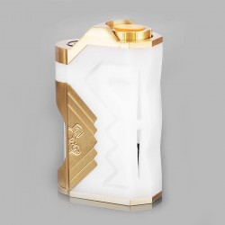 Underground Style BF Squonk Mechanical Box Mod - White, POM + Brass, 8ml, 1 x 18650 / 20700