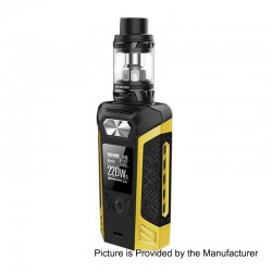 Authentic Vaporesso Transformer 220W TC VW Variable Wattage Mod + NRG Tank Kit - Yellow, 2 x 18650, 5ml, 26.5mm Diameter