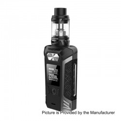 Authentic Vaporesso Transformer 220W TC VW Variable Wattage Mod + NRG Tank Kit - Grey, 2 x 18650, 5ml, 26.5mm Diameter