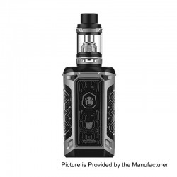 Authentic Vaporesso Transformer LE 220W TC VW Variable Wattage Mod + NRG Tank Kit - Silver, 2 x 18650, 5ml, 26.5mm Diameter