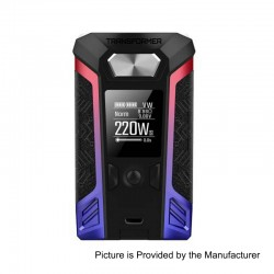 Authentic Vaporesso Transformer 220W TC VW Variable Wattage Box Mod - Blue + Red, Zinc Alloy, 2 x 18650