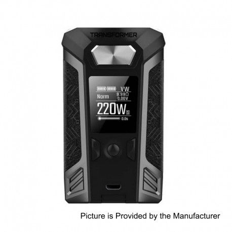 Authentic Vaporesso Switcher 220W TC VW Variable Wattage Box Mod - Grey, Zinc Alloy, 2 x 18650