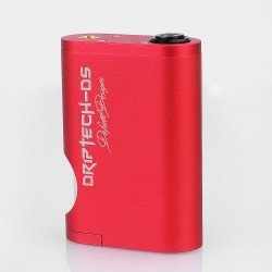 Driptech-DS Goon Box Style Mechanical Squonk Box Mod - Red, Aluminum, 8ml, 2 x 18650