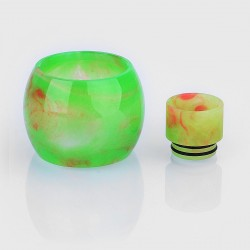 Authentic Iwodevape Replacement Drip Tip + Tank Tube Kit for SMOK TFV12 Tank - Green, Epoxy Resin (2 PCS)
