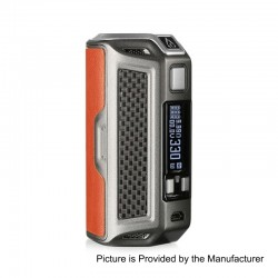 Authentic Rofvape Naga 330W TC VW Variable Wattage Box Mod - Brown, Zinc Alloy + Carbon Fiber + Real Leather, 7~330W, 3 x 18650