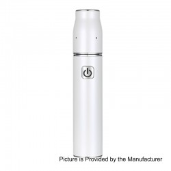 Authentic Athena Quick 2.4 1350mAh Dry Herb Vaporizer - White, 22mm Diameter
