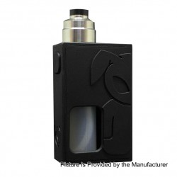 S-Rabbit Style Squonk Mechanical Box Mod + Solo Style RDA Kit - Black + Silver, 8ml, 1 x 18650, 22mm Diameter