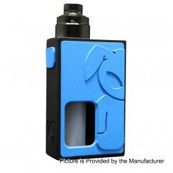 S-Rabbit Style Squonk Mechanical Box Mod + Solo Style RDA Kit - Blue + Black, 8ml, 1 x 18650, 22mm Diameter