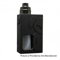 S-Rabbit Style Squonk Mechanical Box Mod + Solo Style RDA Kit - Black, 8ml, 1 x 18650, 22mm Diameter