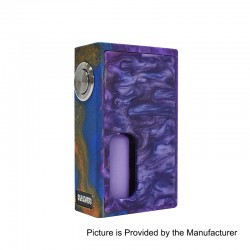 Authentic Hades BF Bottom Feeder Squonk Mechanical Box Mod - Purple, Resin, 10ml, 1 x 18650