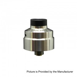 Solo Style RDA Rebuildable Dripping Atomizer w/ BF Pin - Silver, 316 Stainless Steel, 22mm Diameter