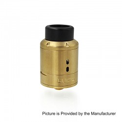 Lucid Style RDA Rebuildable Dripping Atomizer w/ BF Pin - Gold, Stainless Steel, 22mm Diameter
