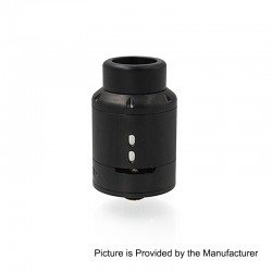 Lucid Style RDA Rebuildable Dripping Atomizer w/ BF Pin - Black, Stainless Steel, 22mm Diameter