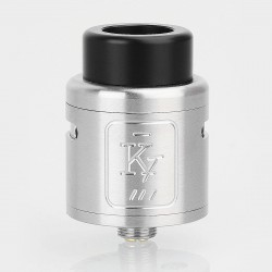 Authentic KingTu KT-X RDA Rebuildable Dripping Atomizer w/ BF Pin - Silver, Stainless Steel, 24mm Diameter