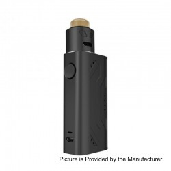 Authentic Smoant Battlestar Nano 80W Box Mod + Battlestar RDA Kit - Black, 1 x 18650, 24mm Diameter