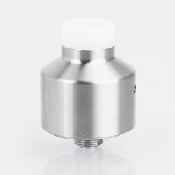 SXK Narca Style RDA Rebuildable Dripping Atomizer w/ BF Pin - Silver, 316 Stainless Steel, 22mm Diameter