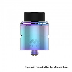Authentic Vapefly Mesh Plus RDA Rebuildable Dripping Atomizer w/ BF Pin - Rainbow, 316 Stainless Steel, 25mm Diameter