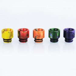 Authentic Vapjoy 510 Replacement Drip Tip for RDA / RTA / Sub Ohm Tank - Random Color, Resin, 13mm (5 PCS)
