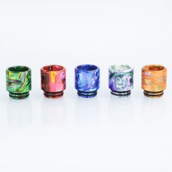 Authentic Vapjoy 810 Wide Bore Drip Tip for TFV8 / TFV12 Tank / Goon / Reload RDA - Random Color, Resin, 18mm (5 PCS)