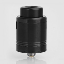 Cartel Obelisk Style RDA Rebuildable Dripping Atomizer w/ BF Pin - Black, Stainless Steel, 24mm Diameter