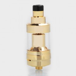 SXK KF Prime Style RTA Rebuildable Tank Atomizer - Gold, 316 Stainless Steel, 2ml, 22mm Diameter
