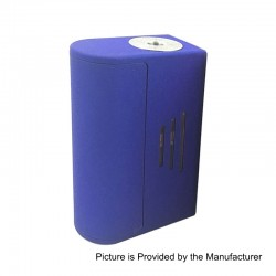 Bravo Box Style Bottom Feeder Squonk Mechanical Box Mod - Blue, ABS, 7ml, 1 x 18650 / 20700 / 21700