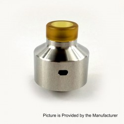 Kindbright NarCa Style RDA Rebuildable Dripping Atomizer w/ BF Pin - Silver, 316 Stainless Steel, 22mm Diameter