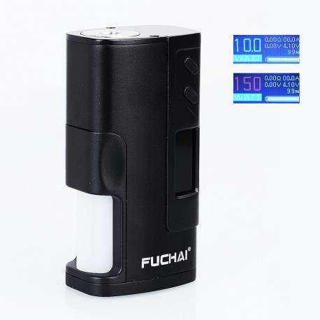 Authentic Sigelei Fuchai Squonk 213 150W TC VW Variable Wattage Mod - Black, 10~150W, 1 x 18650 / 20700 / 21700