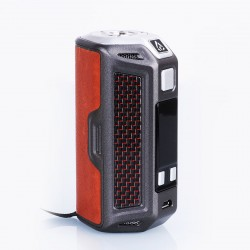 Authentic Rofvape Naga 330W TC VW Variable Wattage Box Mod - Brown, Zinc Alloy + Carbon Fiber + Real Leather, 7~330W, 3 x 18650