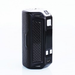 Authentic Rofvape Naga 330W TC VW Variable Wattage Box Mod - Black, Zinc Alloy + Carbon Fiber + Real Leather, 7~330W, 3 x 18650
