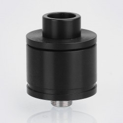 Kira Style RDA Rebuildable Dripping Atomizer w/ BF Pin - Black, Stainless Steel, 22mm Diameter