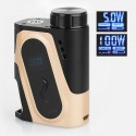 Authentic IJOY Capo 100W 3000mAh Squonk Box Mod - Gold, 1 x 18650 / 20700 / 21700 (with 20700 Battery)