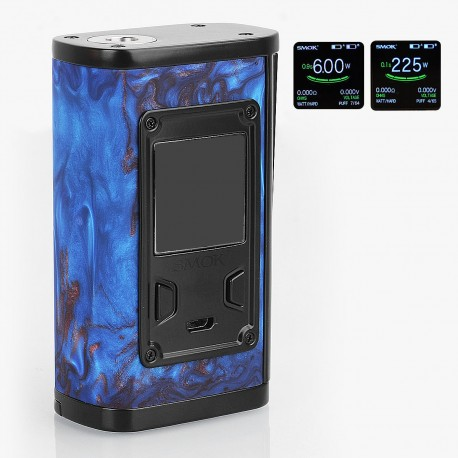 Authentic SMOKTech SMOK Majesty 225W TC VW Variable Wattage Box Mod - Blue Resin, 6~225W, 2 x 18650