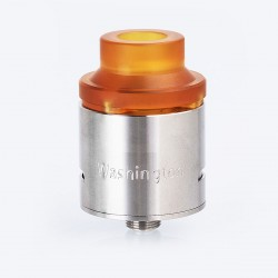 Authentic 5GVape Washington RDA Rebuildable Dripping Atomizer w/ BF Pin - Silver, 316 Stainless Steel, 24mm Diameter
