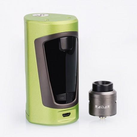Authentic GeekVape GBOX 200W Squonk Box Mod + Radar BF RDA Kit - Army Green, 2 x 18650, 8ml, 24mm Diameter