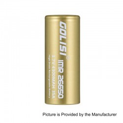 http://www.3fvape.com/178969-home_default/authentic-golisi-imr-26650-4300mah-37v-35a-flat-top-rechargeable-battery-gold.jpg