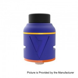 Authentic Desire Mad Dog V2 RDA Rebuildable Dripping Atomizer - Blue, Aluminum + Stainless Steel, 25mm Diameter