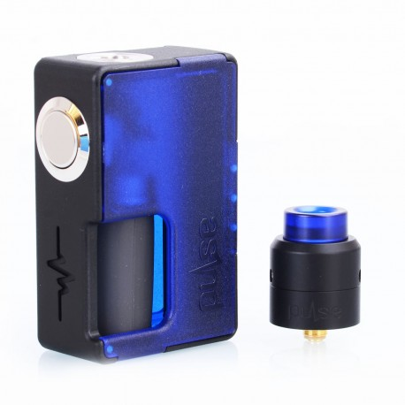 Authentic Vandy Vape Pulse BF Squonk Box Mod + Pulse 24 BF RDA Kit - Frosted Blue, 8ml, 1 x 18650 / 20700, 24mm Diameter
